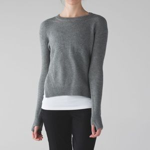 Lululemon Seva Sweater Heathered Medium Grey